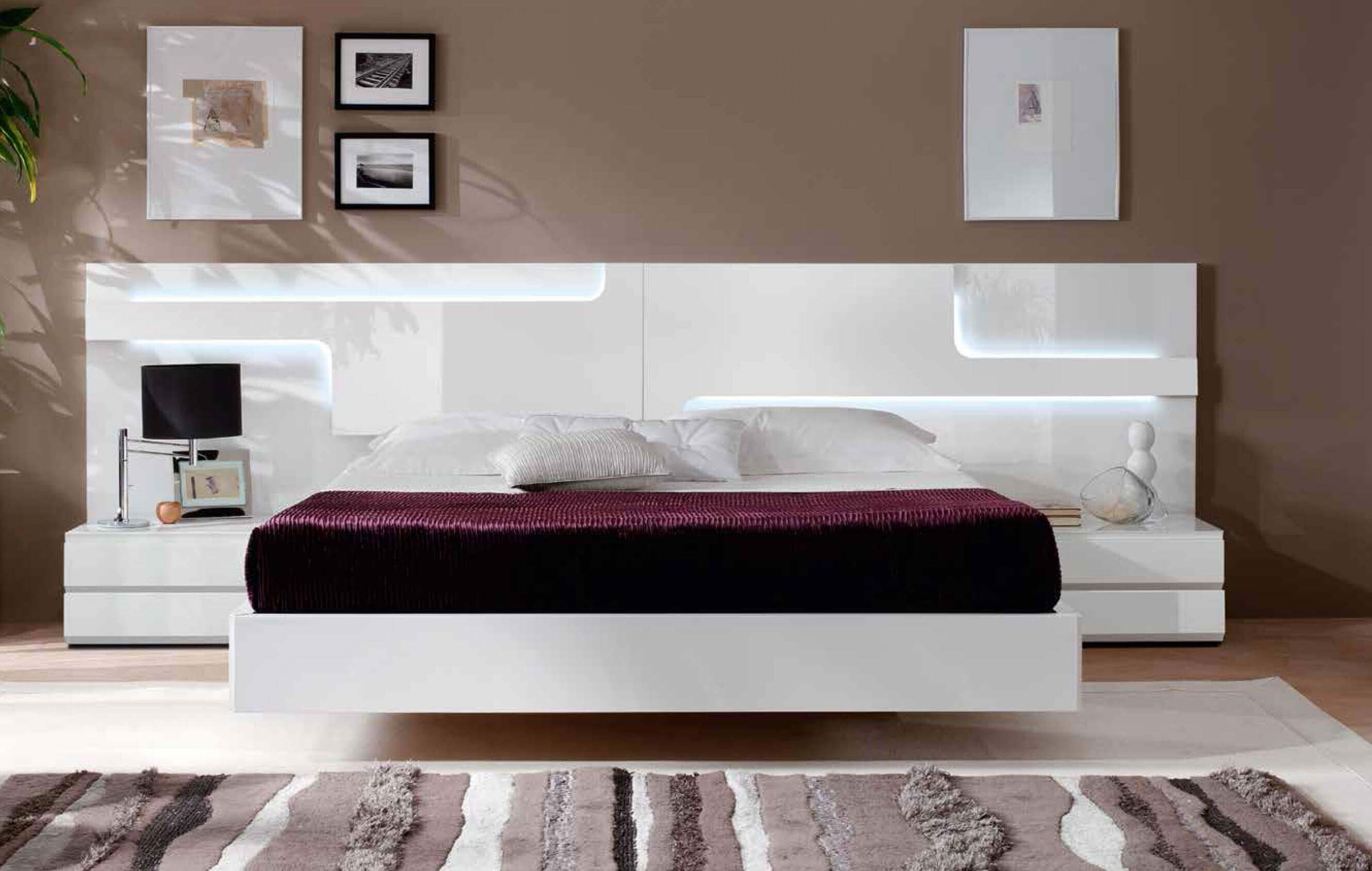 Brown-Colors-for-Walls-as-Elegant-King-Size-Beds-as-Well-Contemporary-Bedroom-White-Furniture.jpg