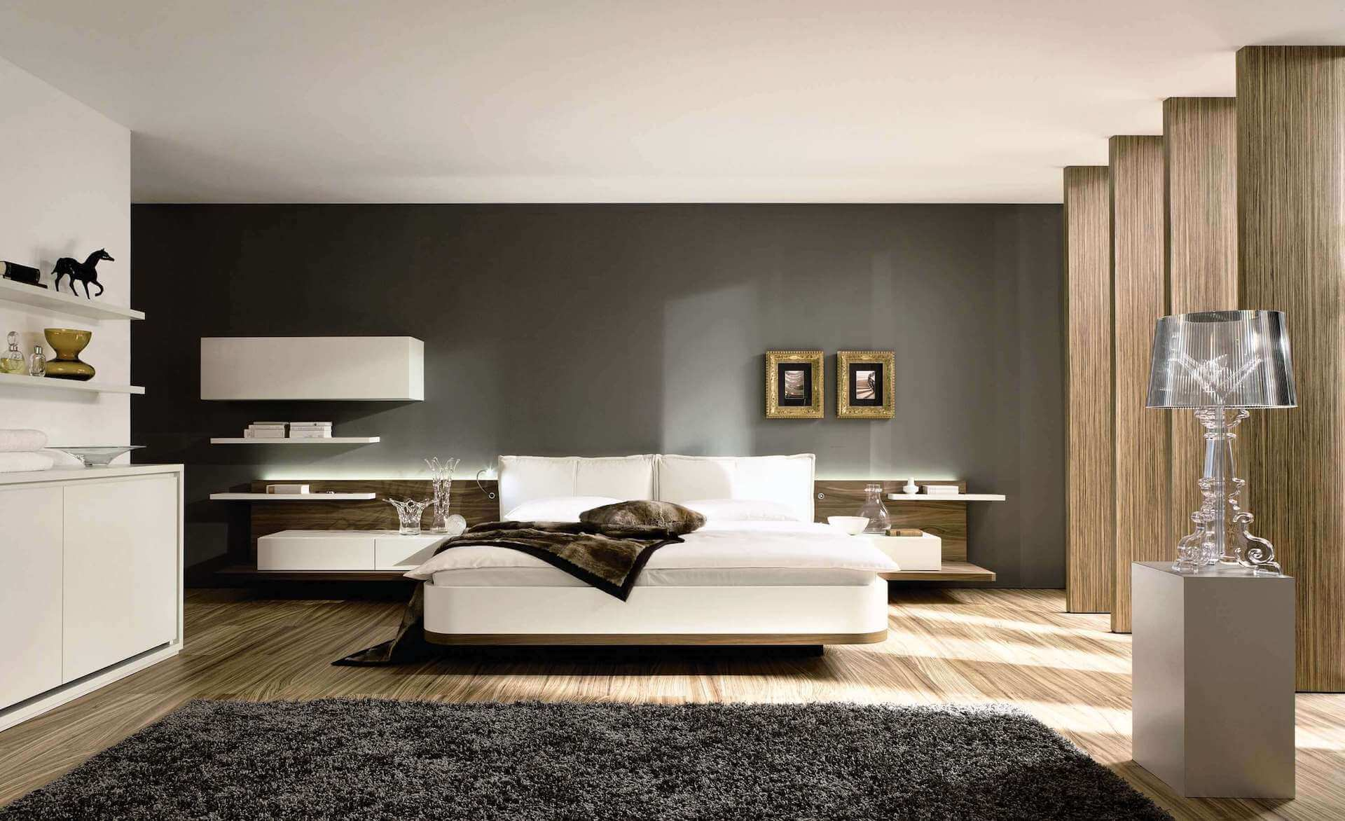 bedroom-with-awesome-modern-design-with-white-bed-and-cover-also-black-blanked-and-fur-rug-also-drawers.jpg